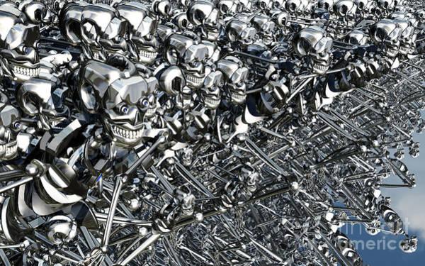 Cyborg Digital Art - A Virus Has Spread by Mark Stevenson