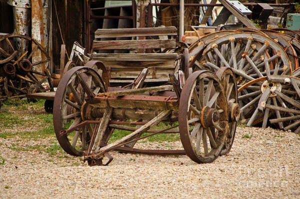 Photograph - A Wagon And Wheels by Donna Greene