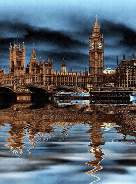Wall Art - Photograph - A Wet Day In London by Sharon Lisa Clarke