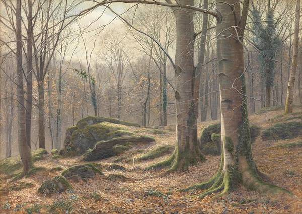 Atmospheric Painting - A Winter Morning by James Thomas Watts