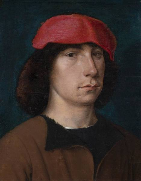 Sixteenth Wall Art - Painting - A Young Man In A Red Cap by Michiel Sittow
