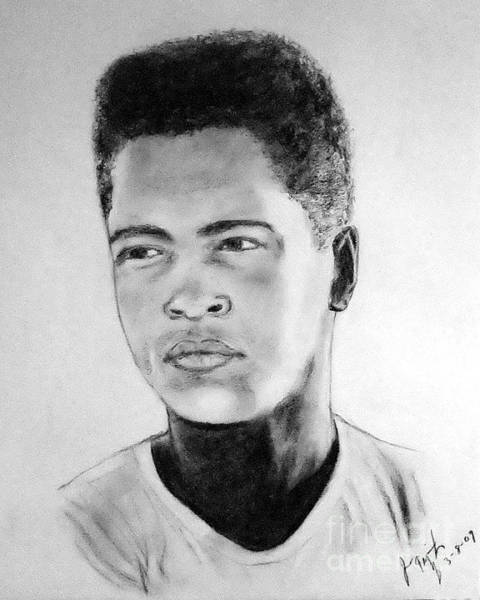 Wall Art - Drawing - A Young Muhammad Ali Aka Cassius Clay by Jim Fitzpatrick