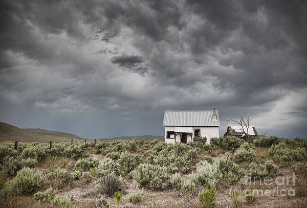 Stormcloud Photograph - Abandoned Buildings Under A Dark Sky by Dave & Les Jacobs