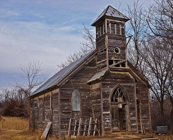 Photograph - Abandoned Church by Edward Peterson