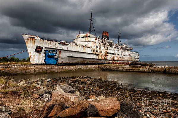 Swan Boats Photograph - Abandoned Ship by Adrian Evans