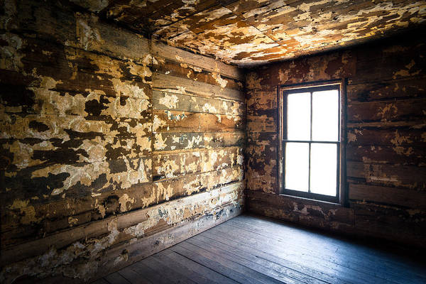 Crumbling Photograph - Abandoned Smoky Mountains Farm House - The Window by Dave Allen