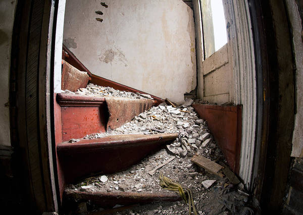 Rot Photograph - Abandoned Stairs by Cale Best
