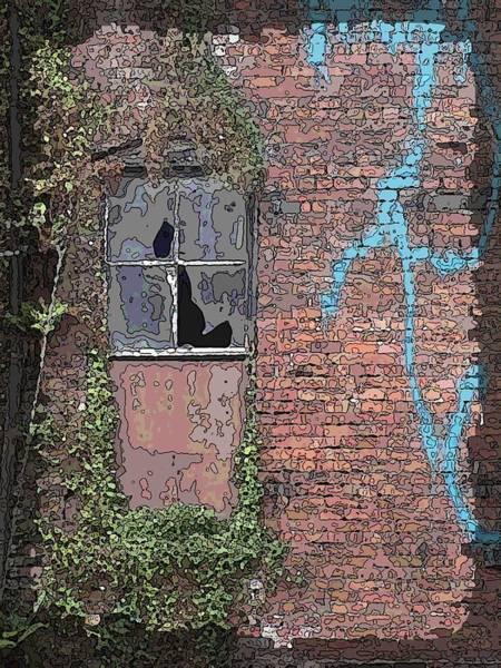 Red Brick Digital Art - Abandoned by Tim Allen