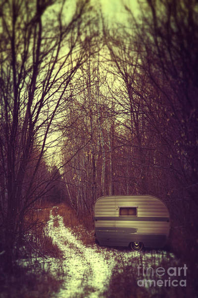 Photograph - Abandoned Trailer In The Woods by Sandra Cunningham