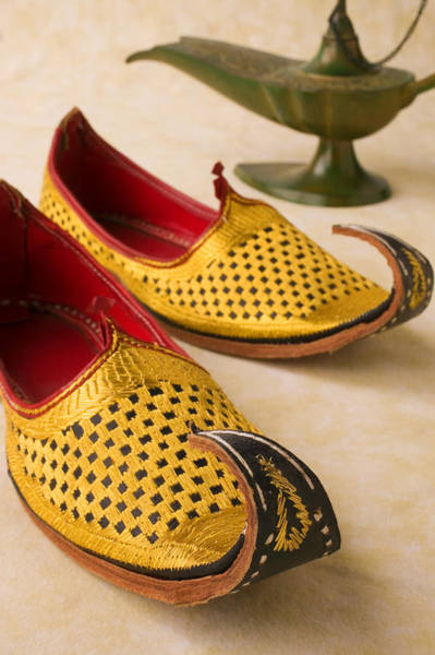 Oil Lamp Photograph - Abarian Shoes by Garry Gay