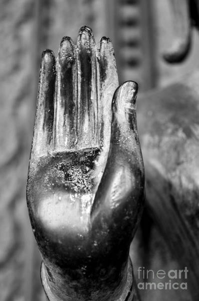 Buddah Photograph - Abhaya Mudra I In Black And White by Dean Harte