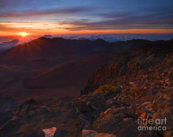 Haleakala Crater Photograph - Above The Clouds by Mike  Dawson