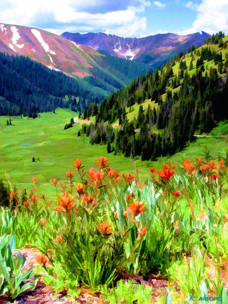 Digital Art - Above The Valley by Rick Wicker