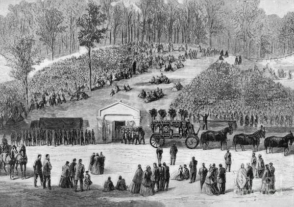 Photograph - Abraham Lincoln Burial by Granger