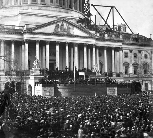 Wall Art - Photograph - Abraham Lincolns First Inauguration - March 4 1861 by International  Images