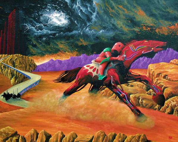Roger Dean Wall Art - Painting - Abrax To Bendelath by Pete Davidson