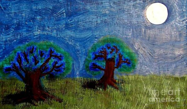 Half Timbered Painting - Abres De La Lune by Angela Loya