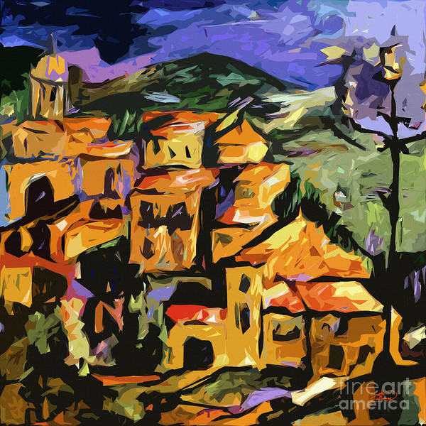 Painting - Abstract Amalfi At Night  by Ginette Callaway