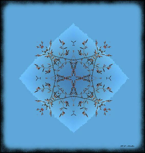 Wall Art - Mixed Media - Abstract  Blue Grass 41 by Heinz G Mielke