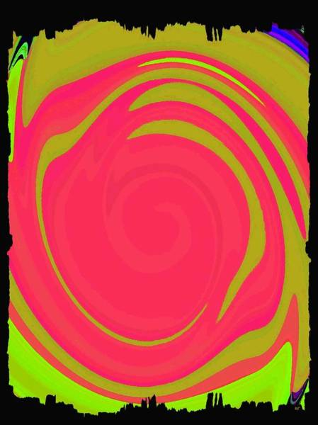 Merge Digital Art - Abstract Color Merge by Will Borden