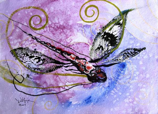 Painting - Abstract Dragonfly 6 by J Vincent Scarpace