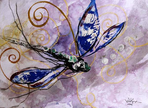 Painting - Abstract Dragonfly 9 by J Vincent Scarpace