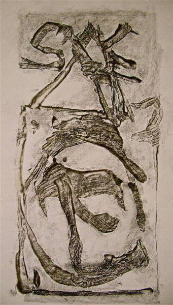 Drawing - Abstract Expressionist Experimental Sketch 7  by Cliff Spohn
