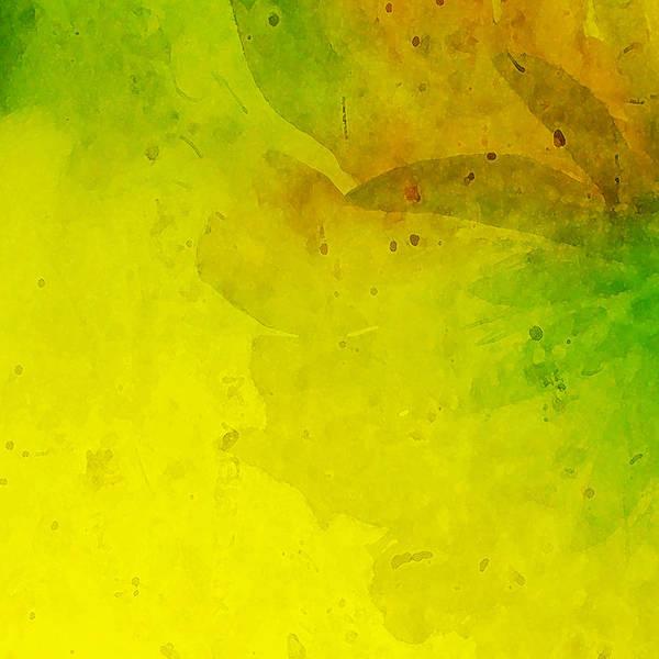 Saffron Digital Art - Abstract Floral by Bonnie Bruno