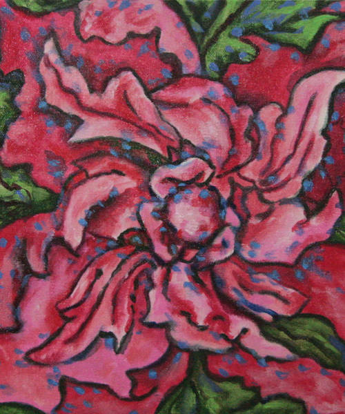 Wall Art - Painting - Abstract Flower by Laura Heggestad