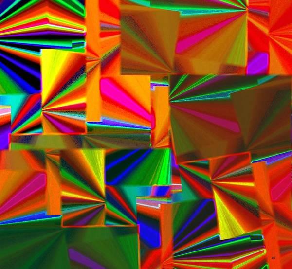 Borden Digital Art - Abstract Fusion 4 by Will Borden