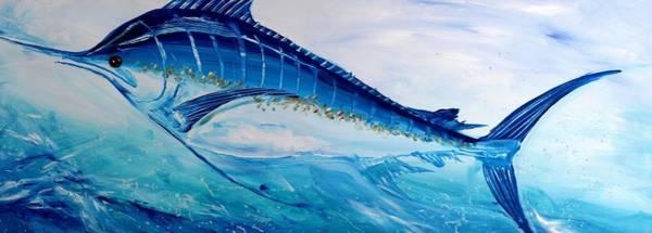 Abstract Marlin Art Print