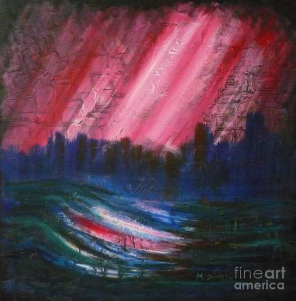 Painting - Abstract-red by Monika Shepherdson