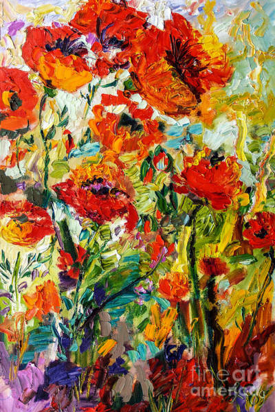 Painting - Impressionist Red Poppies  by Ginette Callaway