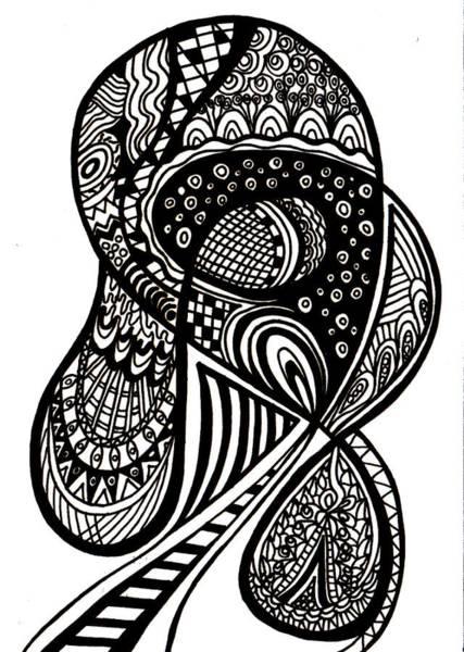 Wall Art - Drawing - Abstract Rounding by Karen Elzinga