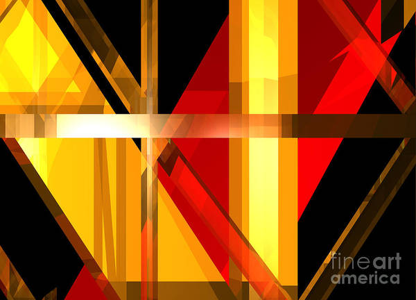 Digital Art - Abstract Tan 7 by Russell Kightley