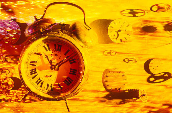 Alarm Clock Photograph - Abstract Time by Garry Gay