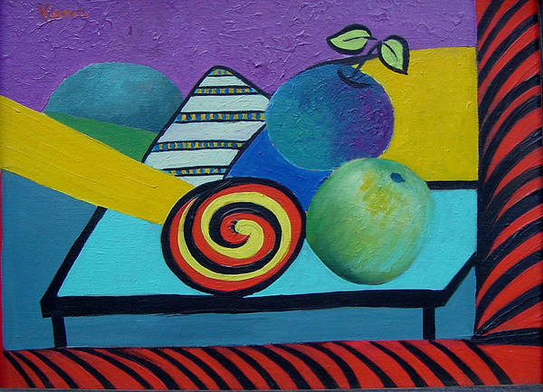 Painting - Abstracted Apples by Karin Eisermann