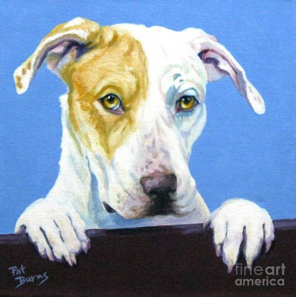 Service Dog Painting - Ac Pup by Pat Burns