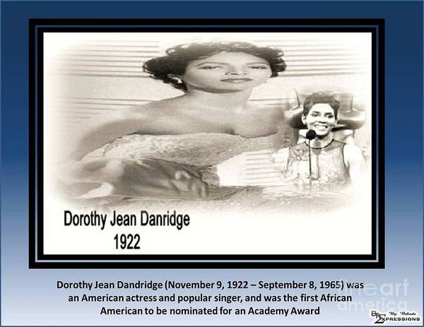 Dorothy Dandridge Digital Art - Doothy Dandridge by Belinda Threeths