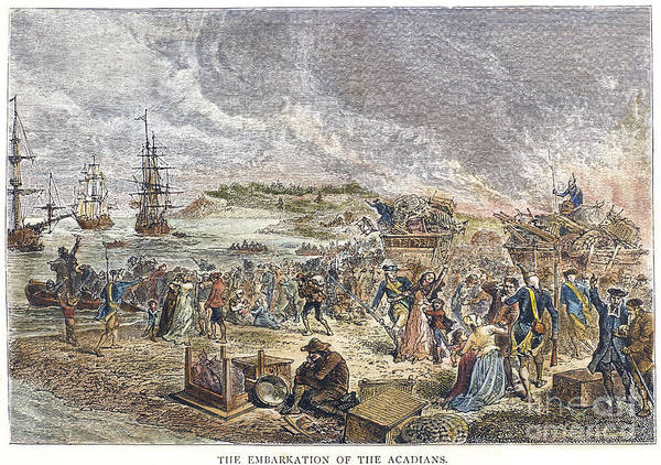 1755 Photograph - Acadian Expulsion, 1755 by Granger