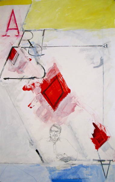 Painting - Ace Of Diamonds 17-52-- In Rememberence Of Richard Diebenkorn Who Died This Week by Cliff Spohn