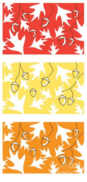 Acorn Wall Art - Digital Art - Acorns by HD Connelly