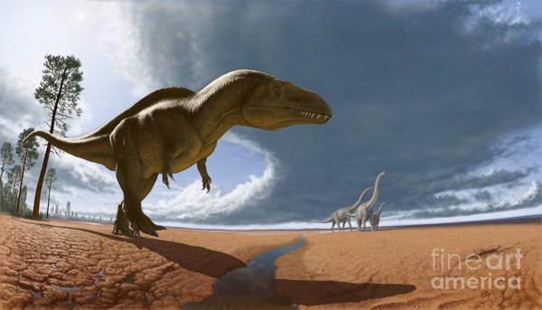 Cretaceous Wall Art - Digital Art - Acrocanthosaurus by Julius Csotonyi