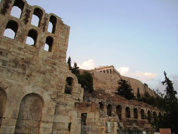 Photograph - Acropolis Parthenon Foothill Architectural Arched Structures II In Athens Greece by John Shiron