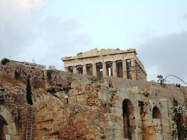Photograph - Acropolis Parthenon Palace Architectural Columns Structures Iv Construction Remodeling Athens Greece by John Shiron