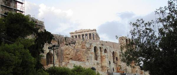 Photograph - Acropolis Parthenon Palace Architectural Columns Structures V Construction Remodeling Athens Greece by John Shiron