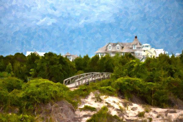 Sand Dunes Digital Art - Across The Bridge by Betsy Knapp