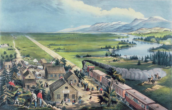 Currier And Ives Painting - Across The Continent by Currier and Ives