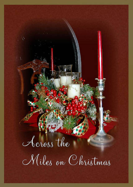Mixed Media - Across The Miles On Christmas by Donna Proctor