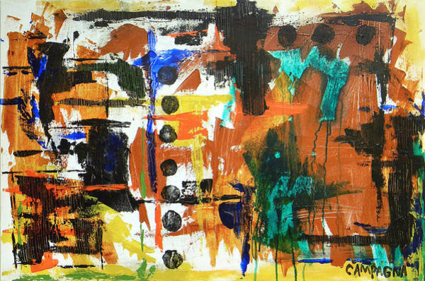 Wall Art - Painting - Acrylic No. 37 by Teddy Campagna